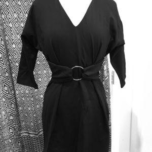 Black O-Buckle Dress